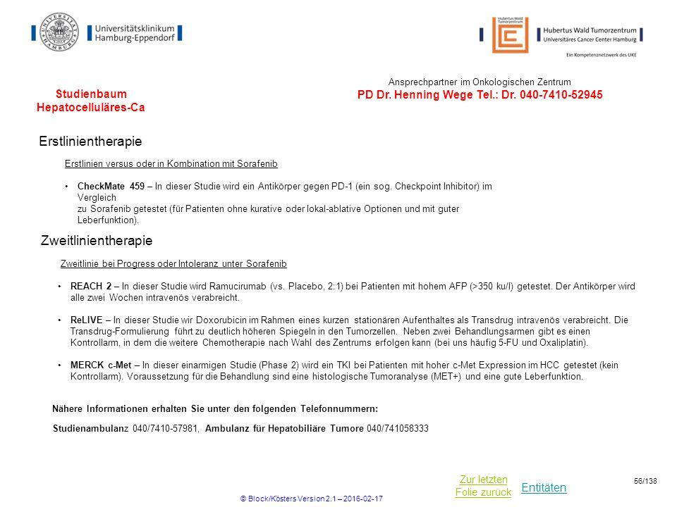 Studienbaum Hepatocelluläres-Ca