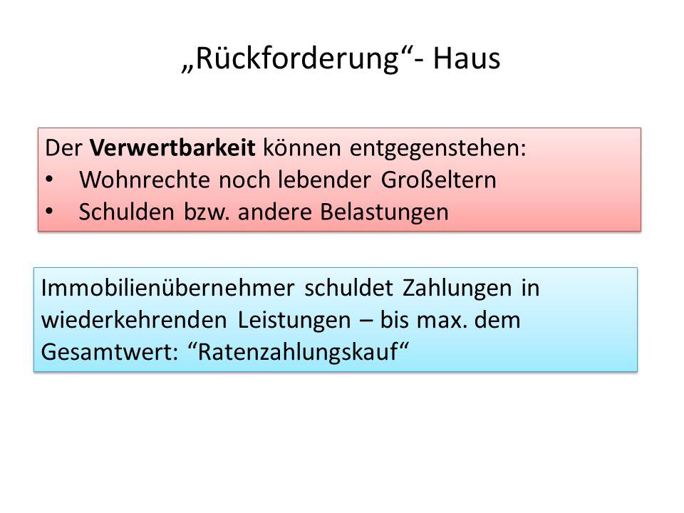 """""""Rückforderung - Haus"""