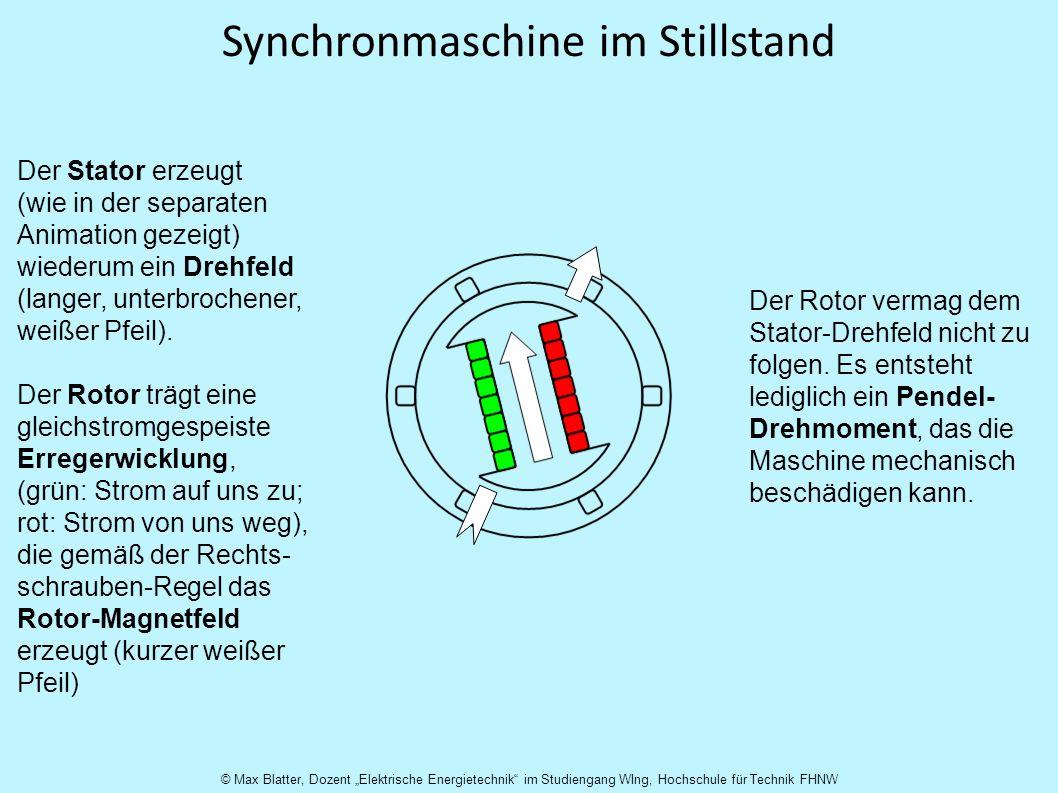 Synchronmaschine im Stillstand