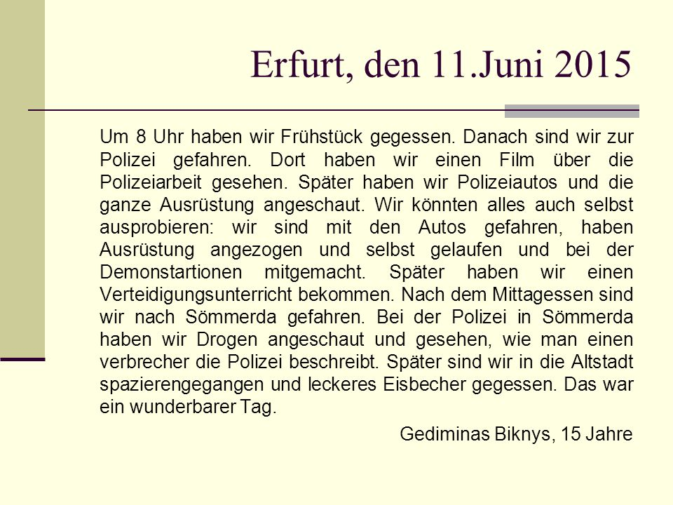 Erfurt, den 11.Juni 2015