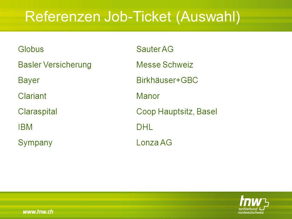 Referenzen Job-Ticket (Auswahl)