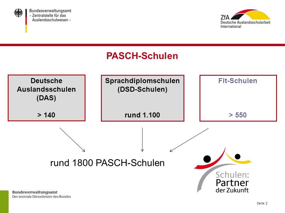 Deutsche Auslandsschulen (DAS) Sprachdiplomschulen (DSD-Schulen)