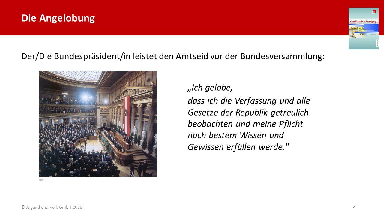 """Die Angelobung Der/Die Bundespräsident/in leistet den Amtseid vor der Bundesversammlung: """"Ich gelobe,"""