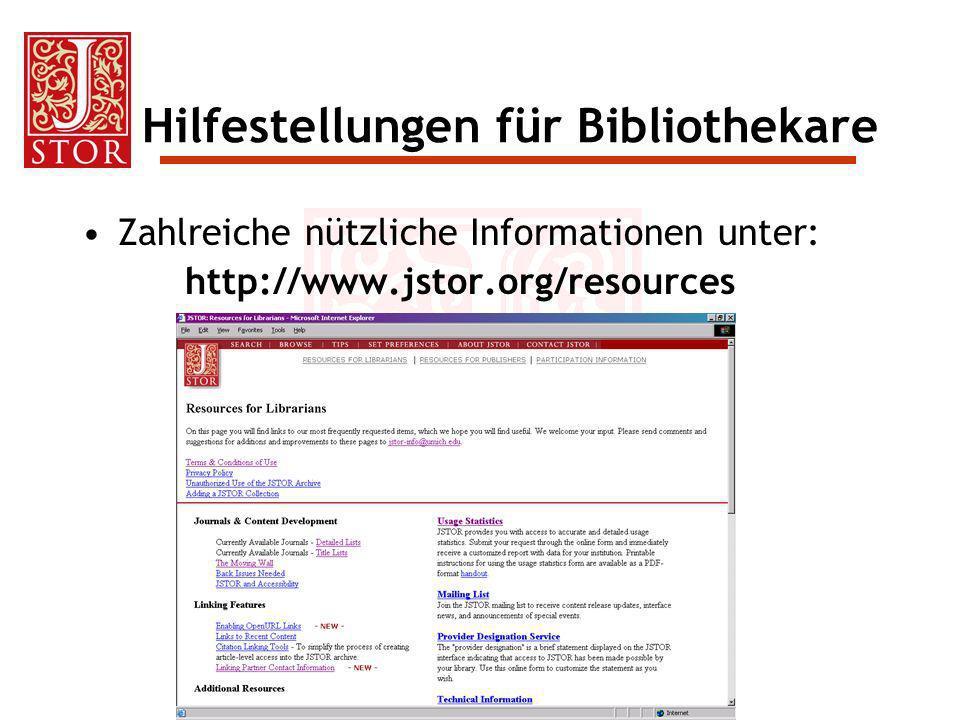 Hilfestellungen für Bibliothekare