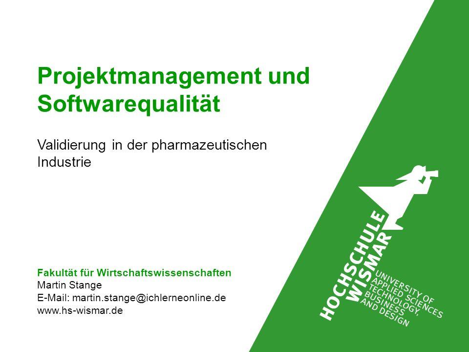 Projektmanagement und Softwarequalität