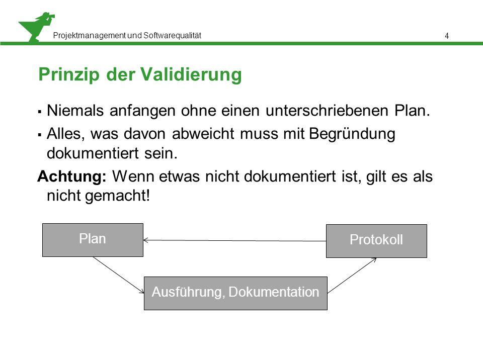 Prinzip der Validierung
