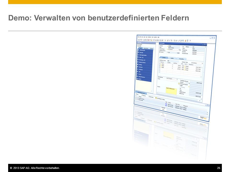 Demo: Verwalten von benutzerdefinierten Feldern