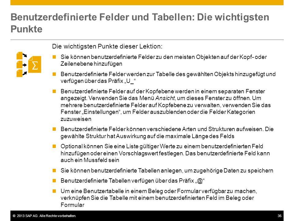 Benutzerdefinierte Felder und Tabellen: Die wichtigsten Punkte