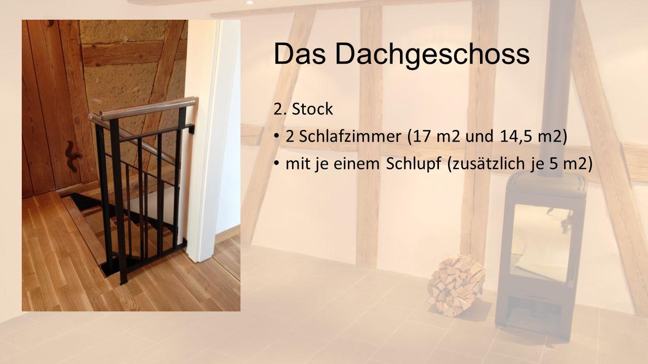 Das Dachgeschoss 2. Stock 2 Schlafzimmer (17 m2 und 14,5 m2)