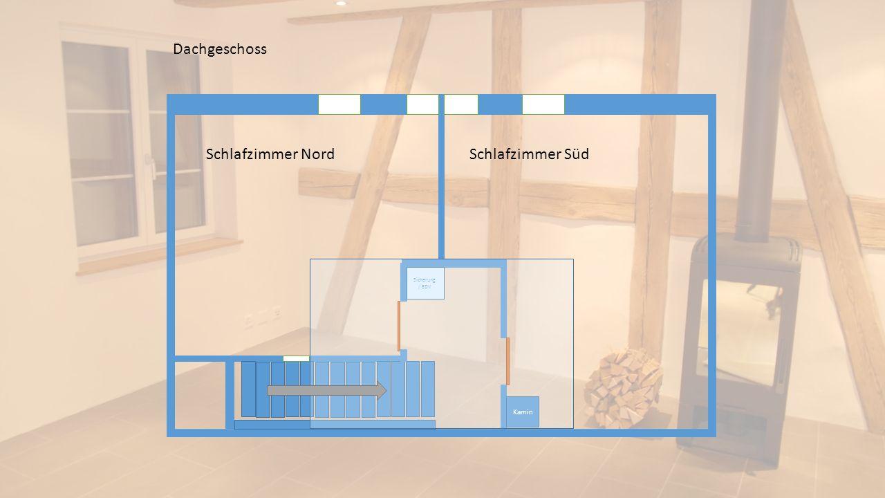 Dachgeschoss Schlafzimmer Nord Schlafzimmer Süd Sicherung / EDV Kamin