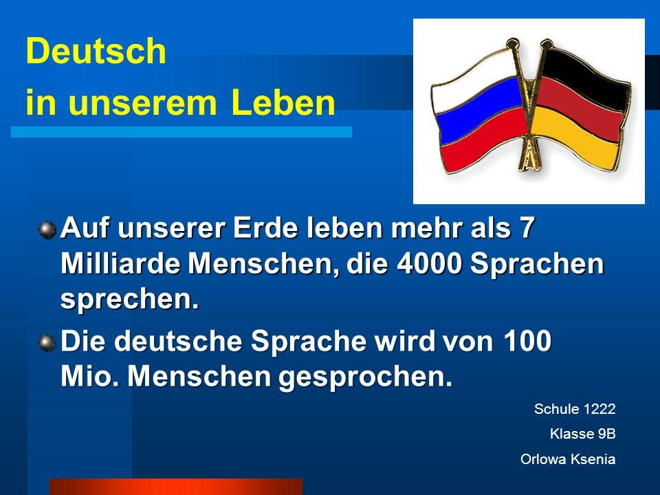 Deutsch in unserem Leben