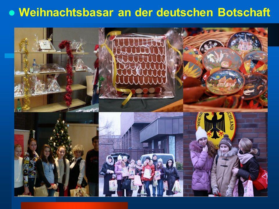 Weihnachtsbasar an der deutschen Botschaft