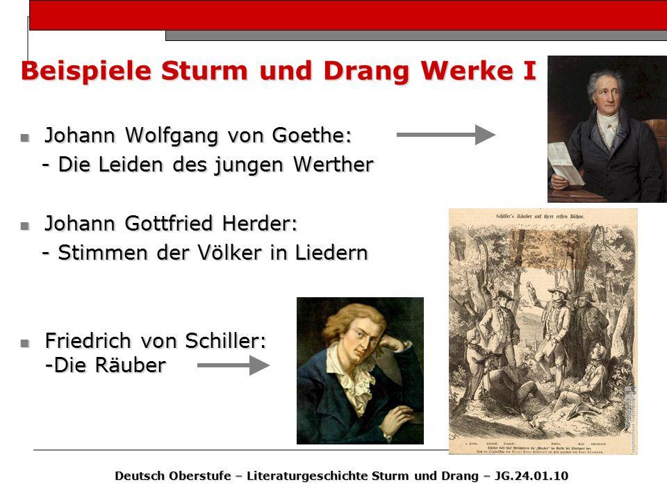 Beispiele Sturm und Drang Werke I