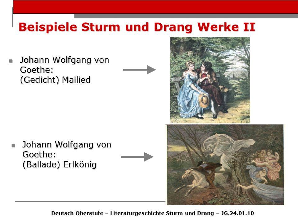 Beispiele Sturm und Drang Werke II
