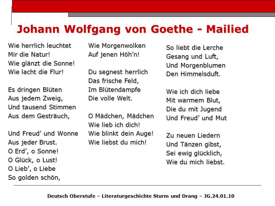 Johann Wolfgang von Goethe - Mailied