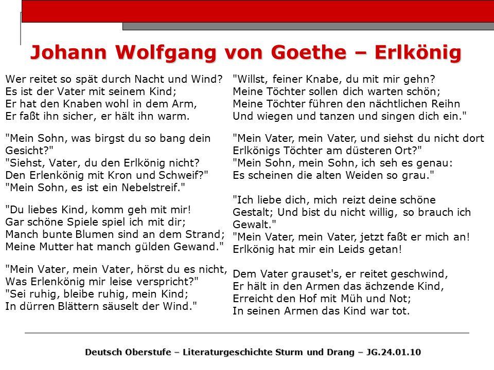 Johann Wolfgang von Goethe – Erlkönig