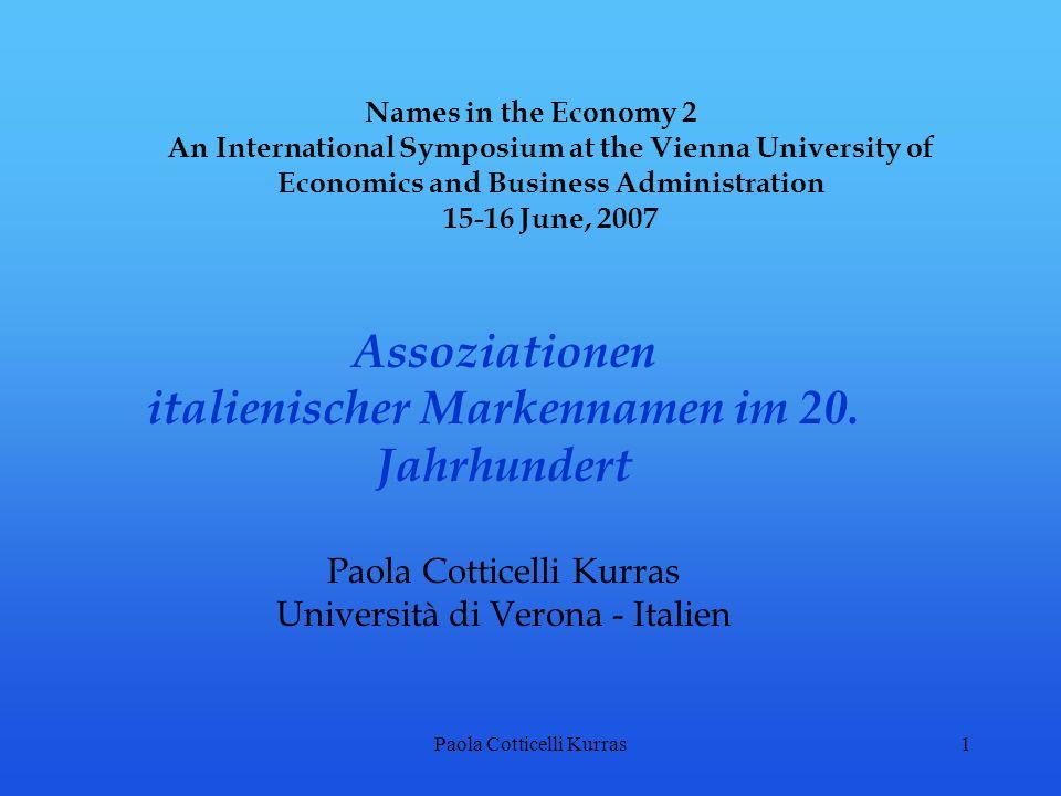 italienischer Markennamen im 20. Jahrhundert
