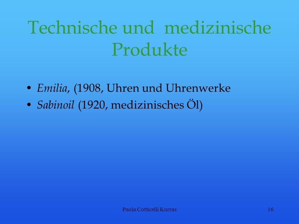 Technische und medizinische Produkte