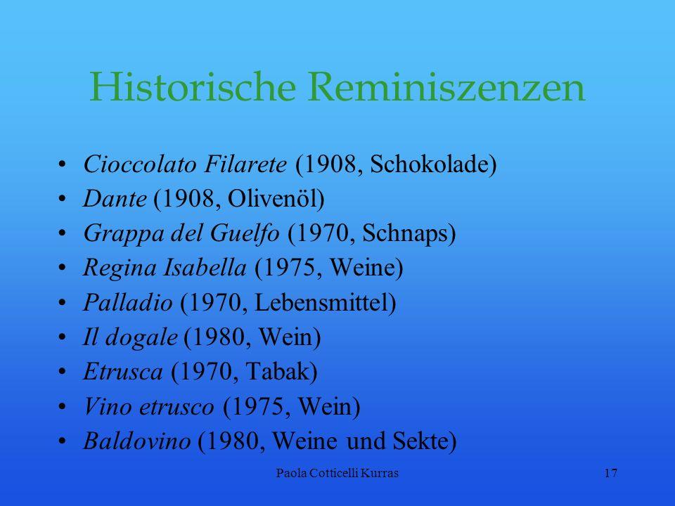 Historische Reminiszenzen
