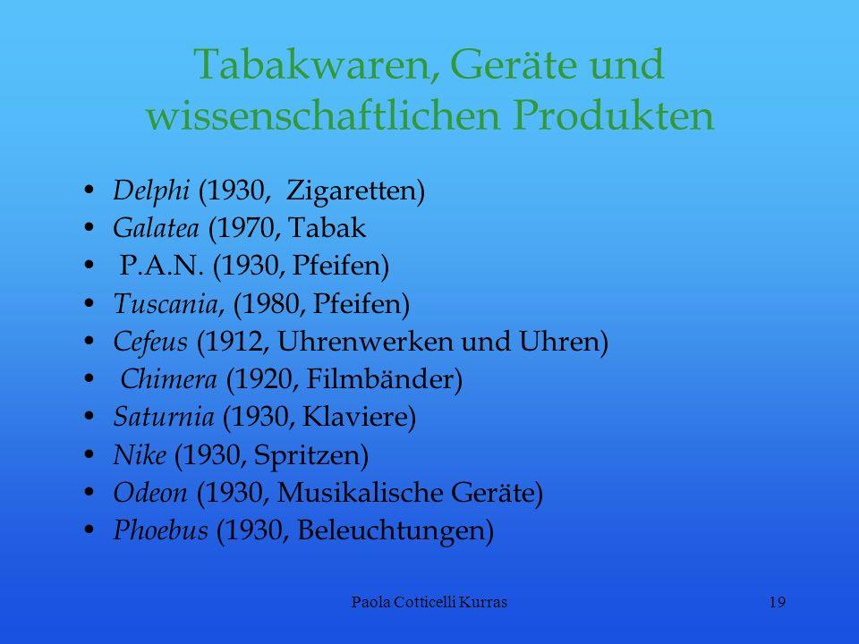 Tabakwaren, Geräte und wissenschaftlichen Produkten
