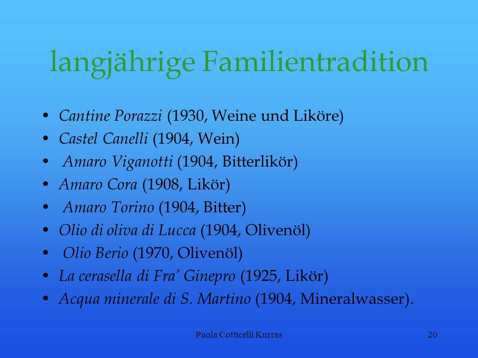 langjährige Familientradition