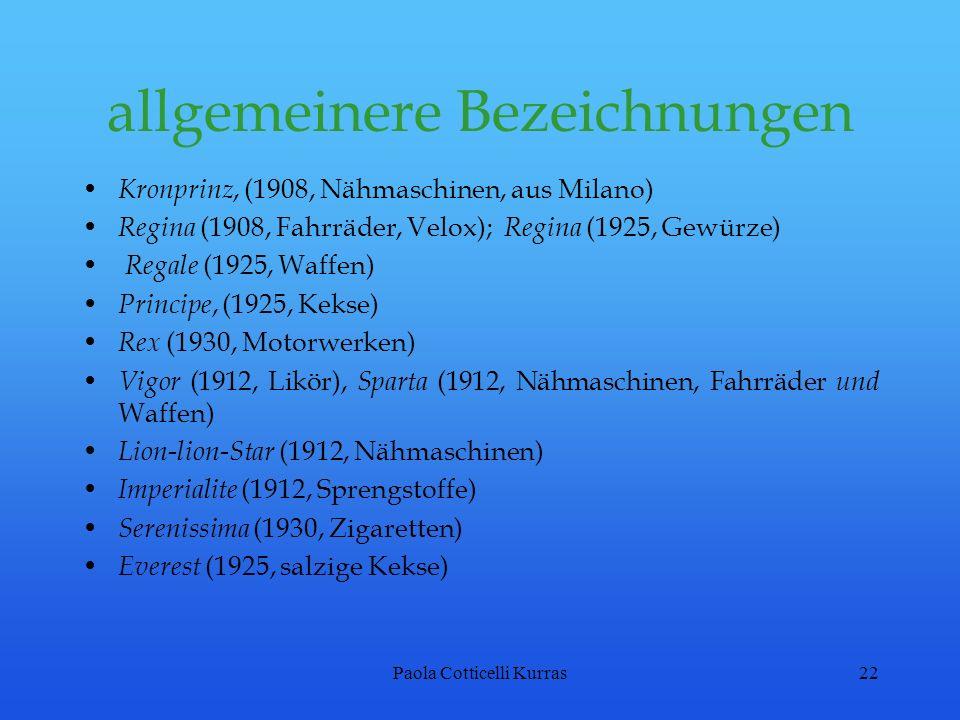 allgemeinere Bezeichnungen