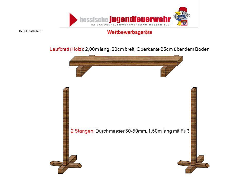 2 Stangen: Durchmesser 30-50mm, 1,50m lang mit Fuß