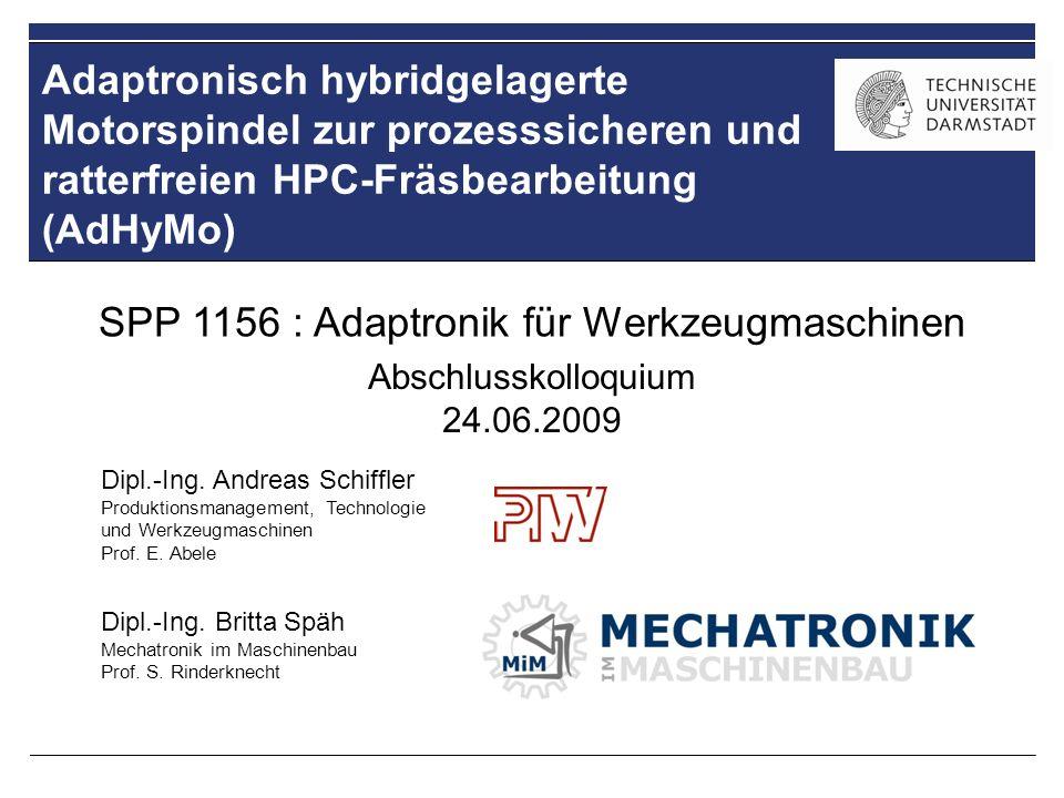 SPP 1156 : Adaptronik für Werkzeugmaschinen
