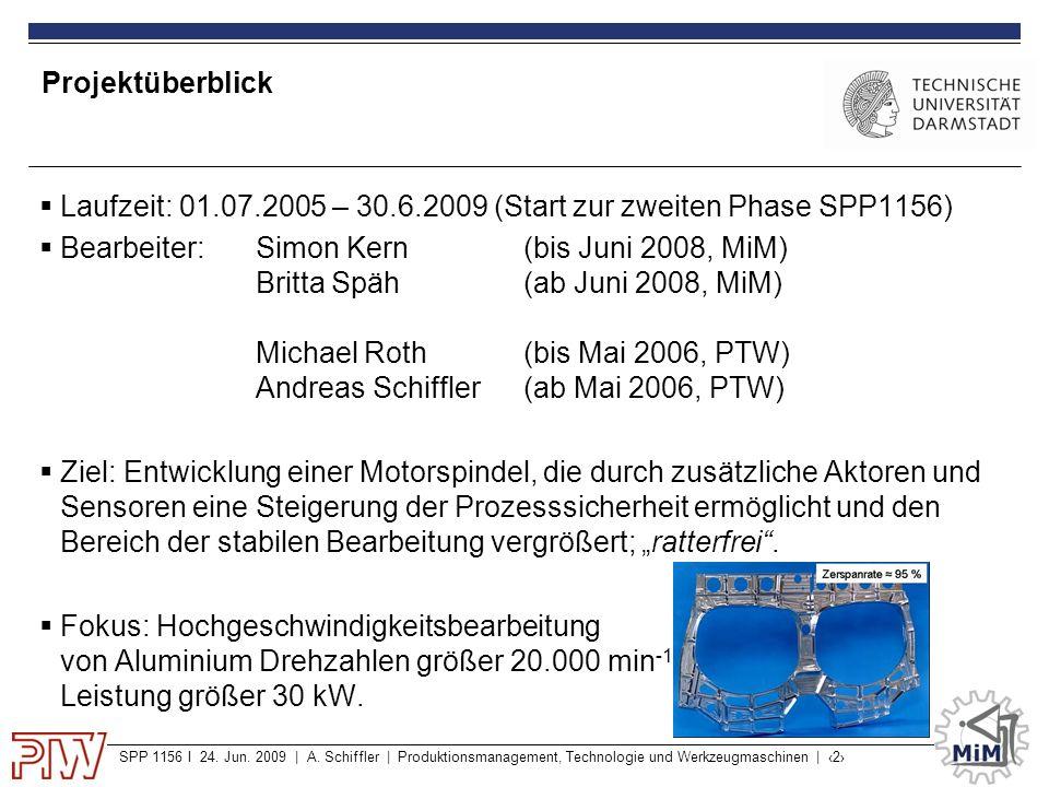Projektüberblick Laufzeit: 01.07.2005 – 30.6.2009 (Start zur zweiten Phase SPP1156)