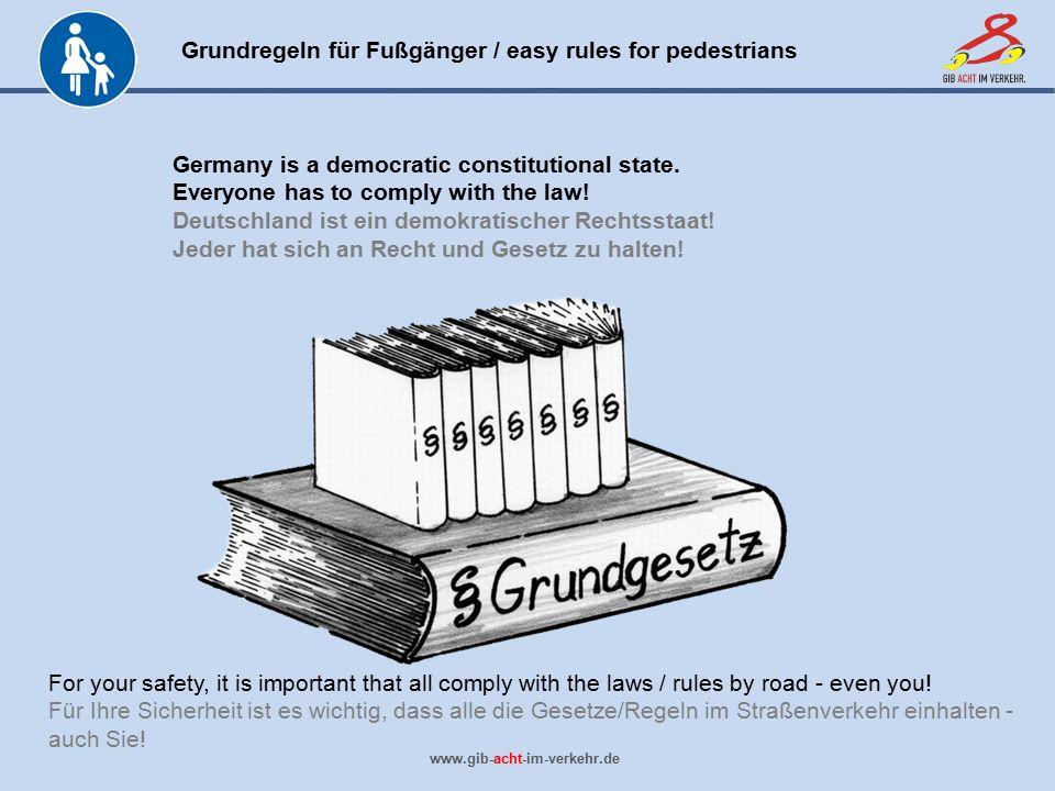 Deutschland ist ein demokratischer Rechtsstaat!