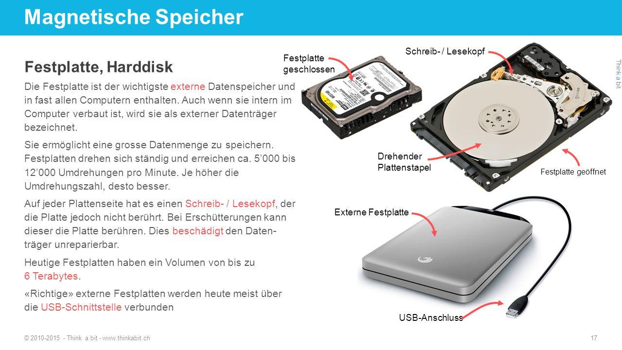 Magnetische Speicher Festplatte, Harddisk