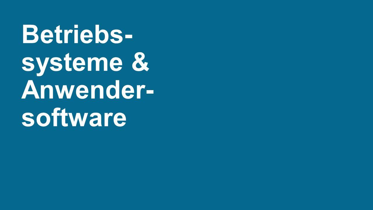 Betriebs-systeme & Anwender-software