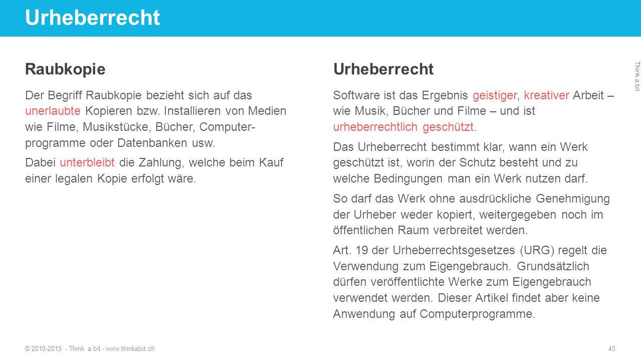 Urheberrecht Raubkopie Urheberrecht