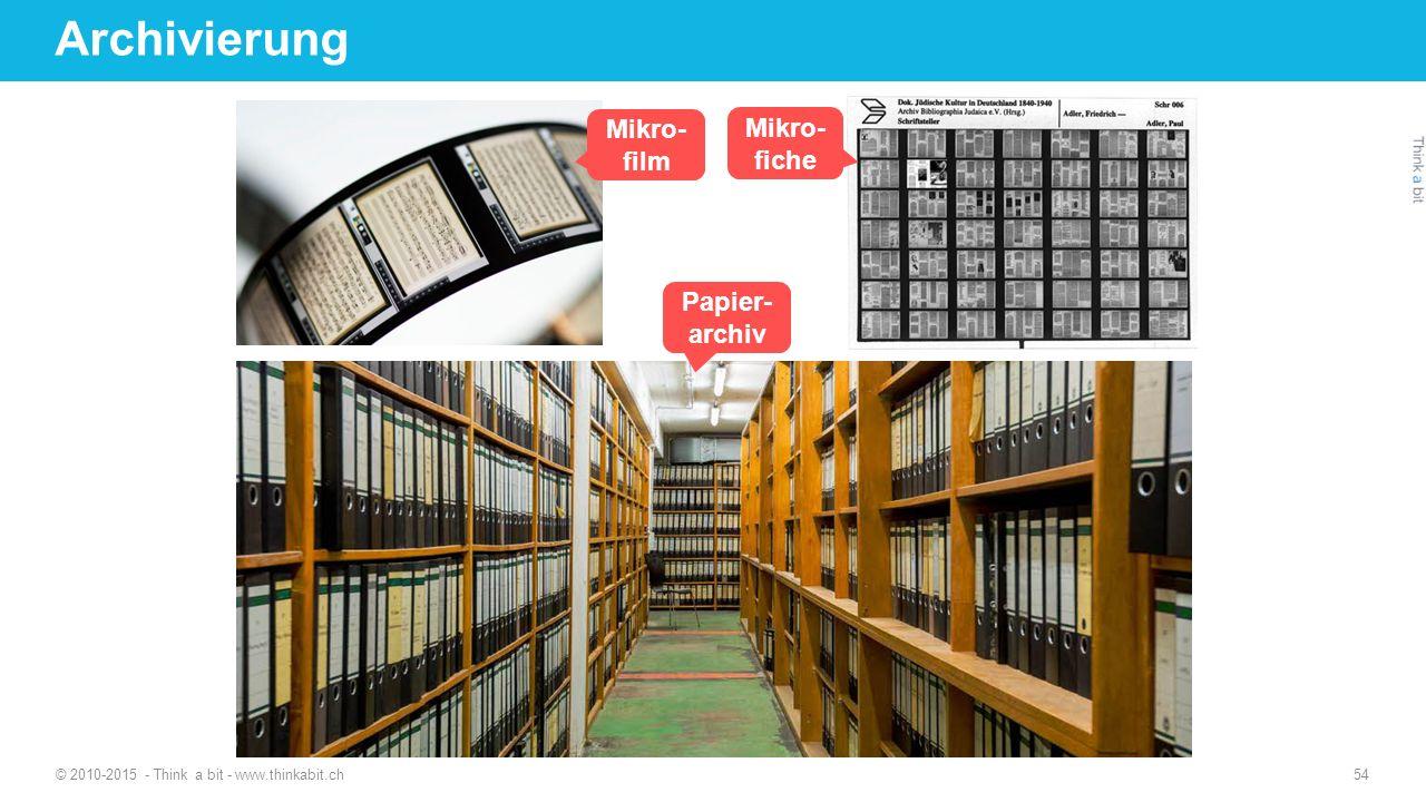 Archivierung Mikro- film Mikro-fiche Papier-archiv
