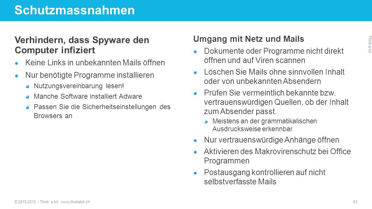 Schutzmassnahmen Verhindern, dass Spyware den Computer infiziert