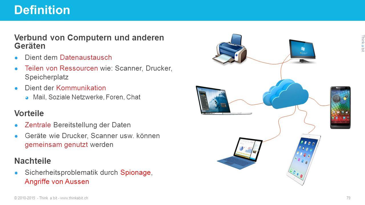 Definition Verbund von Computern und anderen Geräten Vorteile