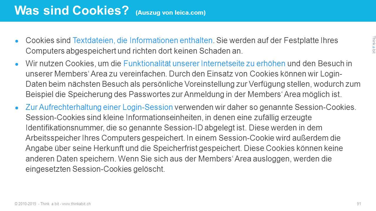 Was sind Cookies (Auszug von leica.com)