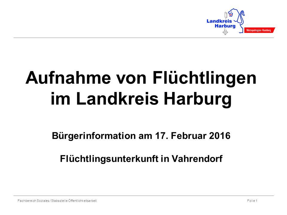 Aufnahme von Flüchtlingen im Landkreis Harburg Bürgerinformation am 17