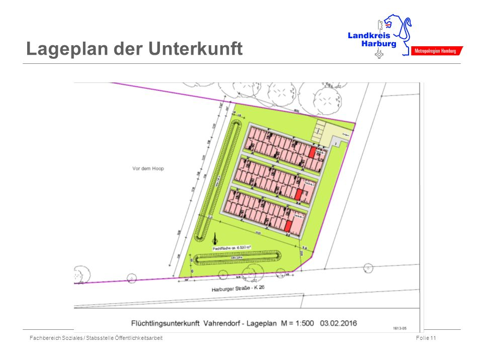 Lageplan der Unterkunft