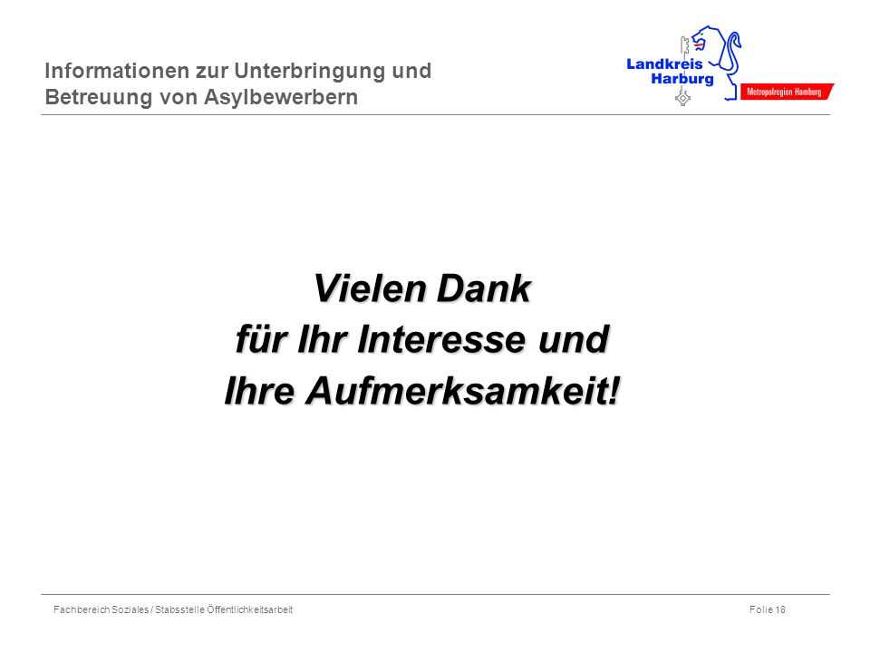 Informationen zur Unterbringung und Betreuung von Asylbewerbern