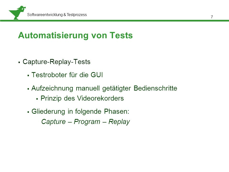 Automatisierung von Tests