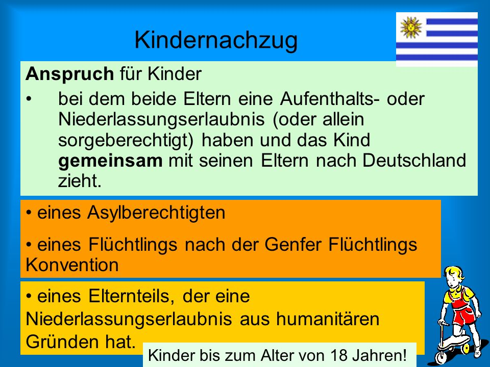 Kindernachzug Anspruch für Kinder