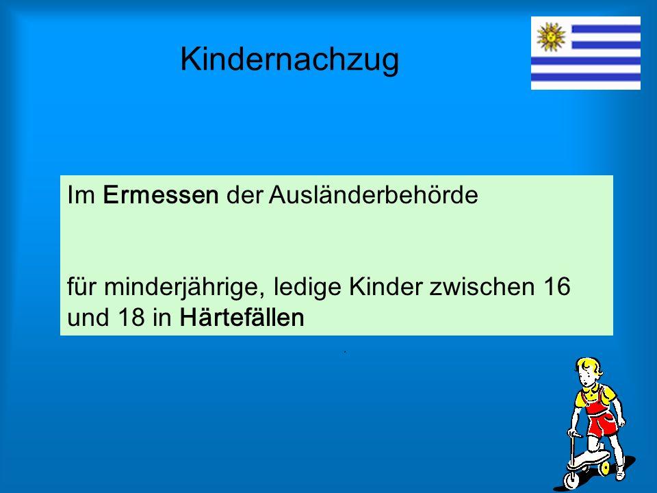Kindernachzug Im Ermessen der Ausländerbehörde