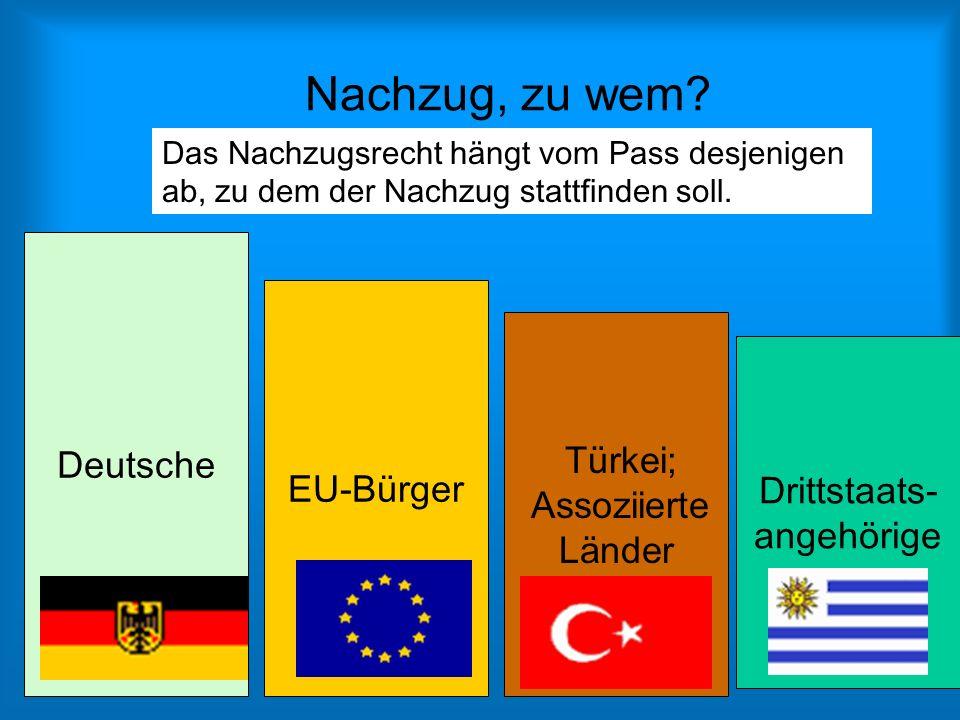 Nachzug, zu wem Deutsche EU-Bürger Türkei; Assoziierte Länder