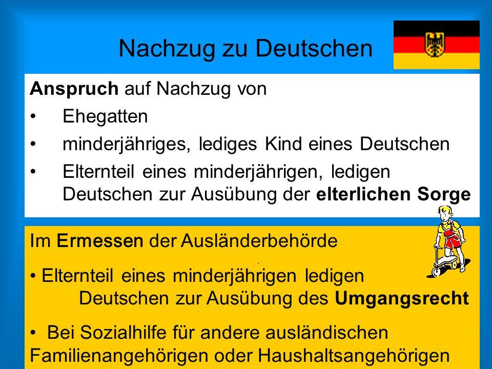 Nachzug zu Deutschen Anspruch auf Nachzug von Ehegatten