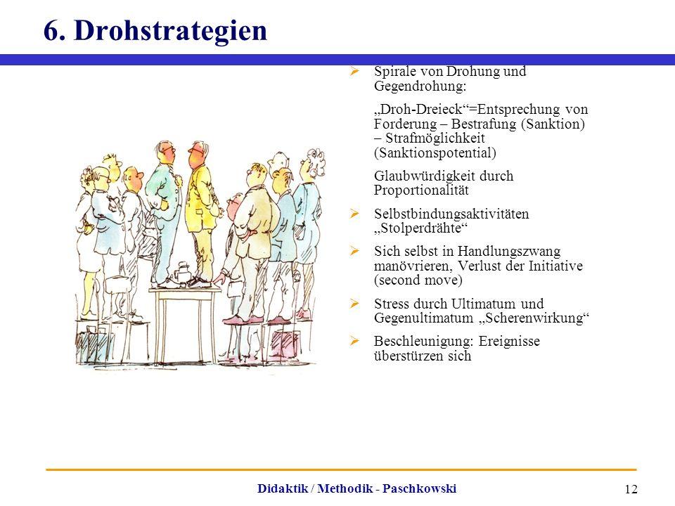 6. Drohstrategien Spirale von Drohung und Gegendrohung: