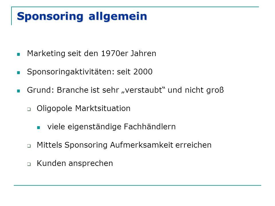 Sponsoring allgemein Marketing seit den 1970er Jahren