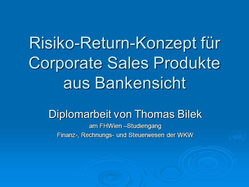 Risiko-Return-Konzept für Corporate Sales Produkte aus Bankensicht