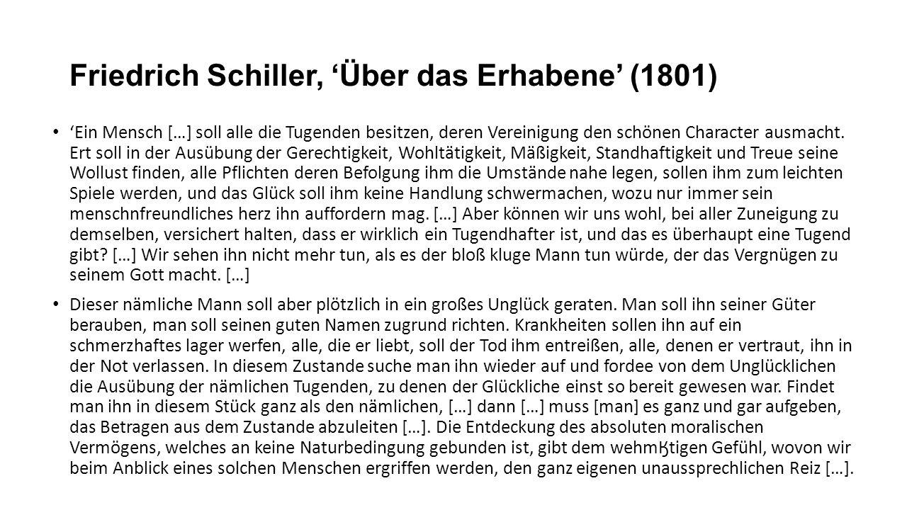 Friedrich Schiller, 'Über das Erhabene' (1801)
