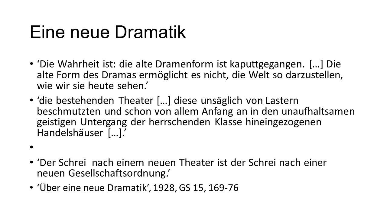 Eine neue Dramatik